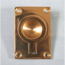 P1716/C 38 X 50Mm Polished Brass Flush Ring