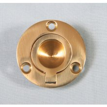P1717/A  38Mm Polished Brass Round Flush Ring