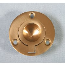P1717/B  44Mm Polished Brass Round Flush Ring