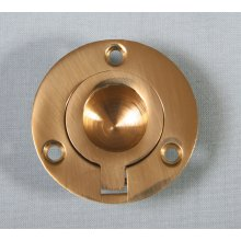 P1717/C  51Mm Polished Brass Round Flush Ring