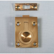 P381/B 50 X 38Mm Polished Brass Flush Ring Catch