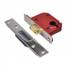 Union Strongbolt Euro Deadlock J21EUS Satin Stainless 76mm