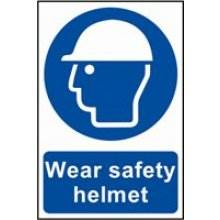 0001 Wear Safety Helmet Sign