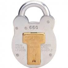Squire 660 64Mm 4Lever Galvanised Padlock