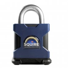Squire SS65S 65mm Stronghold Padlock Solid Steel Open Shackle