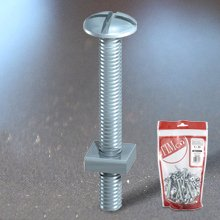 M6 X 80Mm (Bag Of 4) Roofing Bolts & Square Nuts