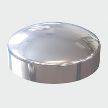 Chrome Plastidome Screw Caps To Suit No 6 & 8