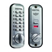 Lockey L235 Satin Chrome Digital Door Lock With Latch Holdback