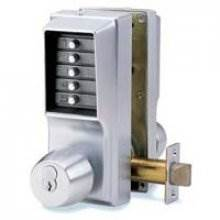 Unican 1041 Satin Chrome Digital Door Lock With Key Bypass & Passage