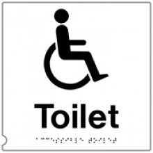 Disabled 150Mm X 150Mm Black On White Tactile Sign