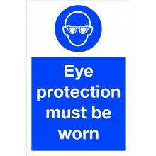 0007 Eye Protection Must Be Worn Sign