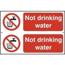 0652 Not Drinking Water Sign (2 Per Sheet)