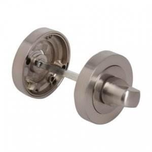 Fortessa Round Bathroom Turn & Release Satin Nickel