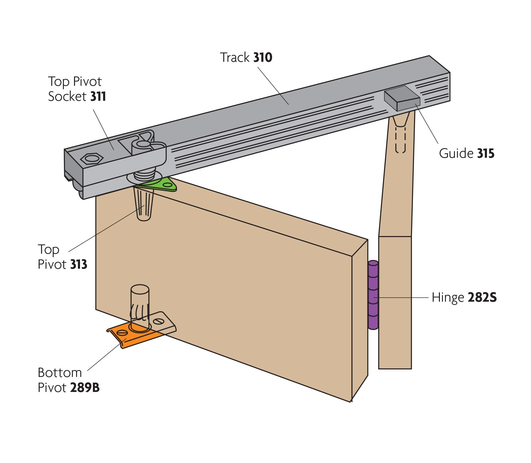 Henderson Set B20 4 Bi Fold Folding Wardrobe Door Gear