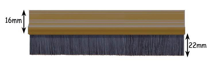 Exitex Brush Strip Draught Excluder 2133mm X 22mm Brown