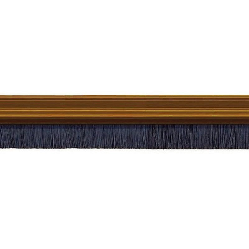 Exitex Brush Strip Draught Excluder 2133mm X 40mm Brown