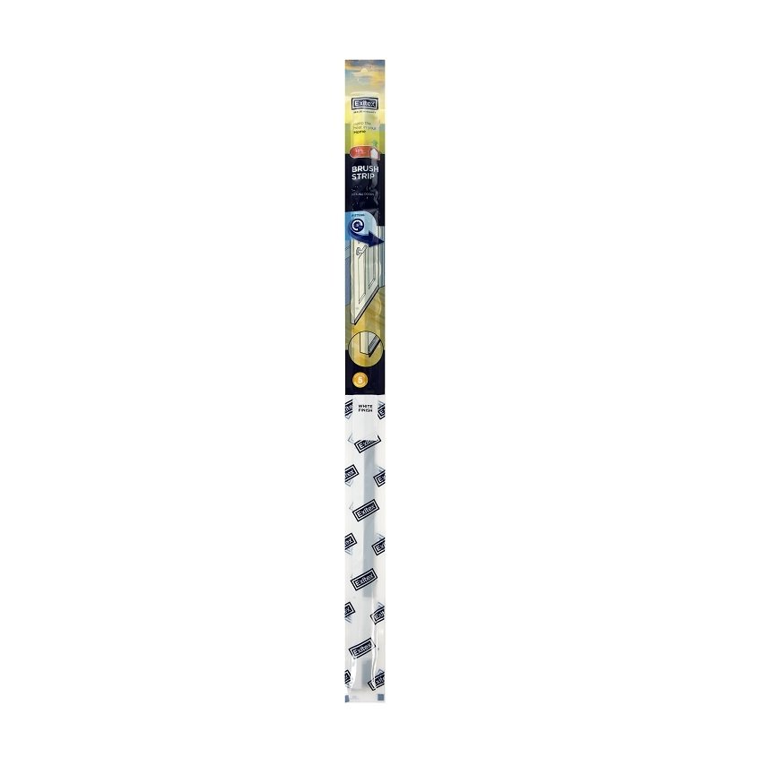 Exitex Brush Strip Draught Excluder 2133mm X 40mm White