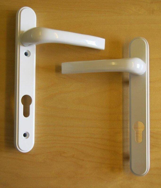 Mila 050308 Pro Linea White Lever Door Handle Multipoint