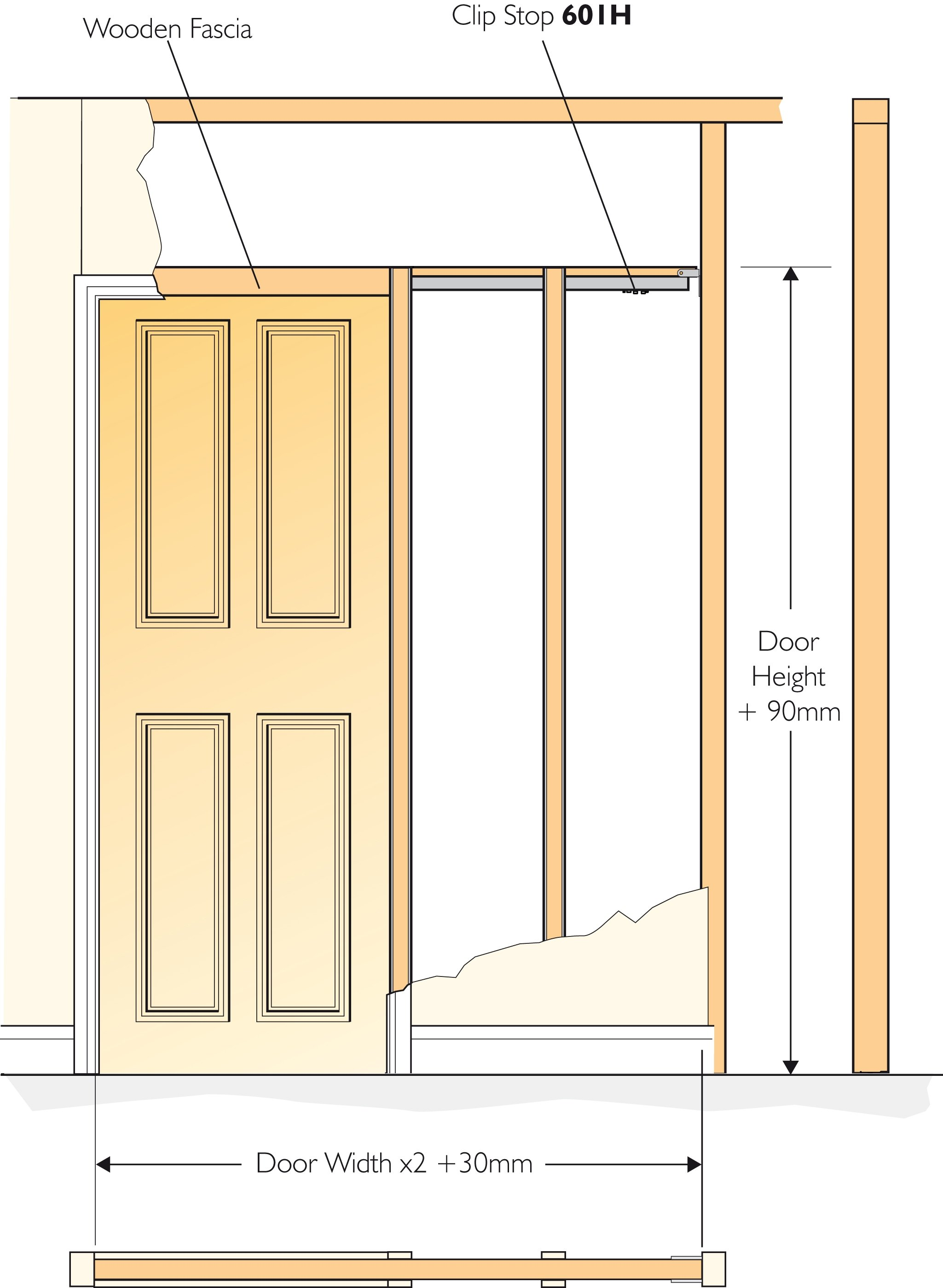 Henderson Pocket Door Kit No 3 For A Single Door