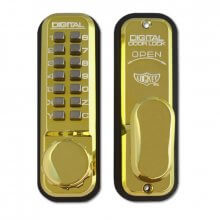 Lockey 2430 Digital Door Lock Polished Brass