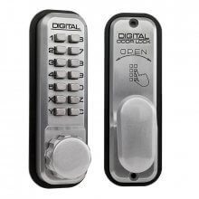 Lockey 2430 Digital Door Lock Satin Chrome