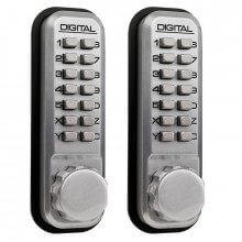 Lockey 2430DS Double Sided Digital Door Lock Satin Chrome