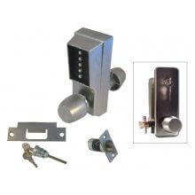 Unican 1011-26D-41 Satin Chrome Standard Digital Door Lock With Knob