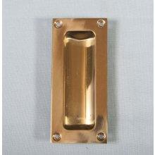 Aq90 102Mm X 45Mm Polished Brass Flush Pull