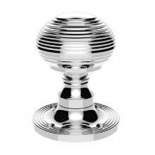 M1001CP Queen Anne Mortice Door Knob Polished Chrome