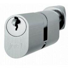 Cya72360 S.Chrome 60Mm Oval Cylinder & Turn