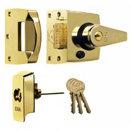 View Era 60mm High Security Nightlatch BS3621 Brasslux (1930-31)