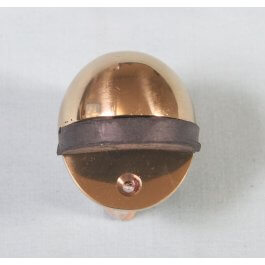 View 1705 Polished Brass Oval Shield Door Stop
