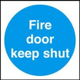 View Fire Door Keep Shut 70Mm X 70Mm Plastic Self Adhesive Sign