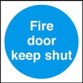 View Fire Door Keep Shut 70Mm X 70Mm Plastic Self Adhesive Sign