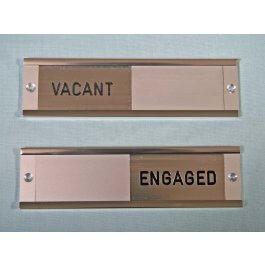 View Vacant/Engaged Slide Panel Satin Aluminium Sign