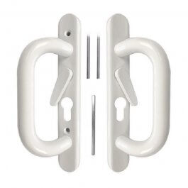 View Schlegel Style Metal Patio Door Handle White
