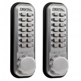 View Lockey 2430DS Double Sided Digital Door Lock Satin Chrome