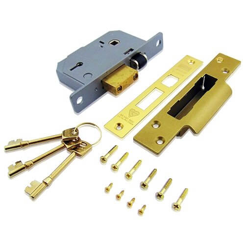 DIY & Tools Brass Union Locks 3K74E 5-Lever Mortice Rollerbolt Sash