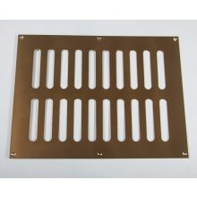 305 x 229mm Plain Slotted Vent Polished Brass HD3759