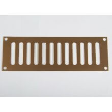 229 x 76mm Plain Slotted Vent Polished Brass HD3762