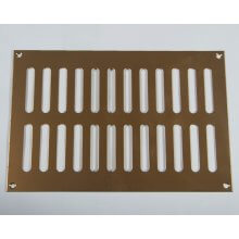 229 X 152mm Plain Slotted Vent Polished Brass HD3763