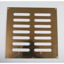 229 x 229mm Plain Slotted Vent Polished Brass HD3764