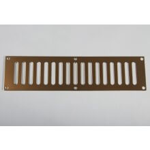 305 x 76mm Plain Slotted Vent Polished Brass HD3765