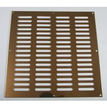 305 x 305mm Plain Slotted Vent Polished Brass HD3767