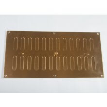305 x 152mm Hit & Miss Vent Polished Brass HD5315