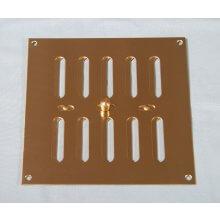 152 x 152mm Hit & Miss Vent Polished Brass HD5323