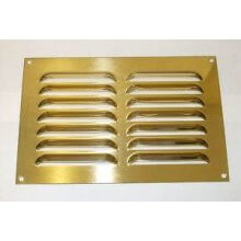 152 x 152mm Louvre Vent Polished Brass HD5639