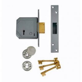 View Union 3G114E 5 Lever Deadlock 67mm Satin BS3621 (Chubb At Heart)