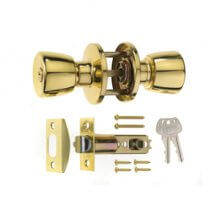 Era 166-31 P.Brass Entrance Door Knob Set