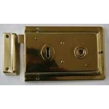 Dp701 152Mm X 100Mm Polished Brass Fluted Rim Lock